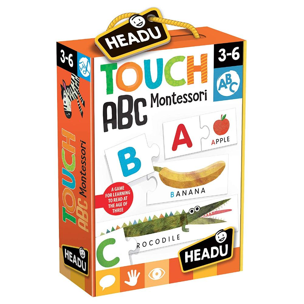 Headu Montessori Touch ABC Alphabets Kids Children Educational Learning Puzzle